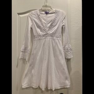 Violet white gauze dress 🌸Size Small